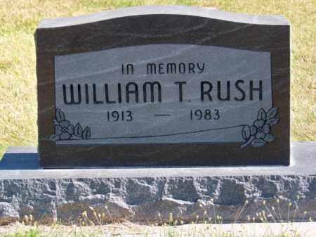 RUSH, WILLIAM T. - Brown County, Nebraska | WILLIAM T. RUSH - Nebraska Gravestone Photos