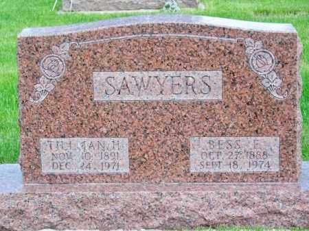 SAWYERS, BESS E. - Brown County, Nebraska | BESS E. SAWYERS - Nebraska Gravestone Photos