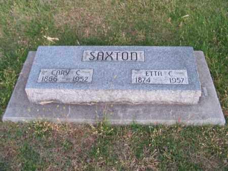 SAXTON, CARY C. - Brown County, Nebraska | CARY C. SAXTON - Nebraska Gravestone Photos