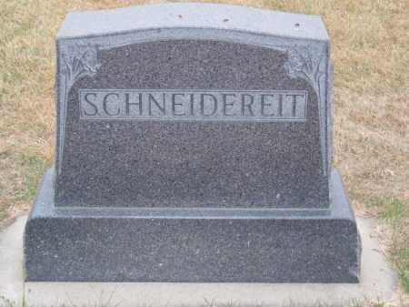 SCHNEIDEREIT, FAMILY - Brown County, Nebraska   FAMILY SCHNEIDEREIT - Nebraska Gravestone Photos