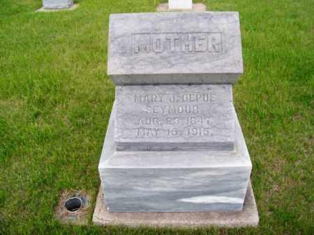 DEPUE SEYMOUR, MARY J. - Brown County, Nebraska   MARY J. DEPUE SEYMOUR - Nebraska Gravestone Photos