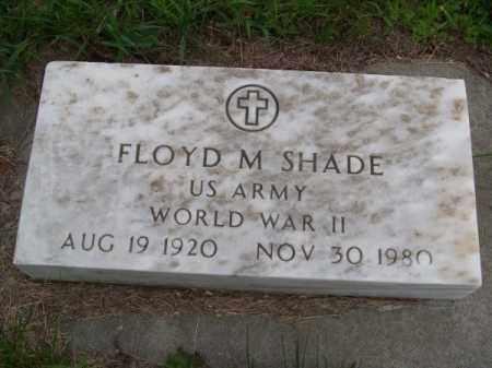 SHADE, FLOYD M. - Brown County, Nebraska | FLOYD M. SHADE - Nebraska Gravestone Photos
