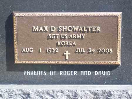 SHOWALTER, MAX D. - Brown County, Nebraska | MAX D. SHOWALTER - Nebraska Gravestone Photos
