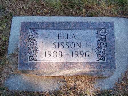 SISSON, ELLA - Brown County, Nebraska | ELLA SISSON - Nebraska Gravestone Photos