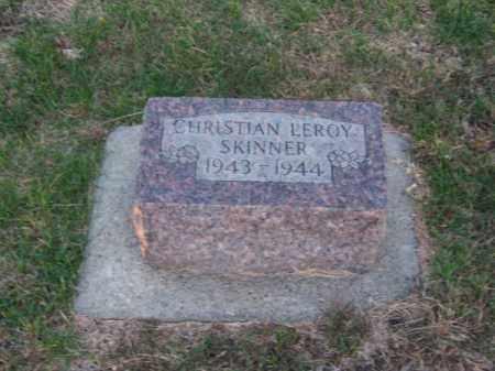 SKINNER, CHRISTIAN LEROY - Brown County, Nebraska | CHRISTIAN LEROY SKINNER - Nebraska Gravestone Photos