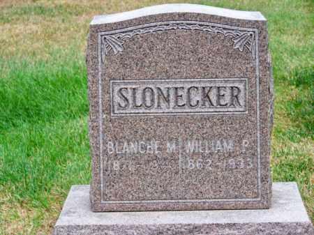 SLONECKER, WILLIAM P. - Brown County, Nebraska   WILLIAM P. SLONECKER - Nebraska Gravestone Photos