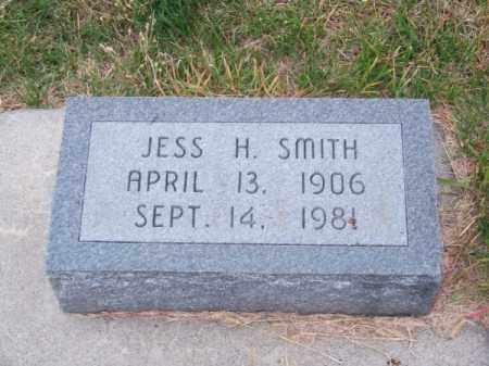 SMITH, JESS H. - Brown County, Nebraska   JESS H. SMITH - Nebraska Gravestone Photos