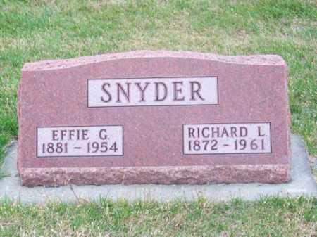 SNYDER, EFFIE G. - Brown County, Nebraska | EFFIE G. SNYDER - Nebraska Gravestone Photos