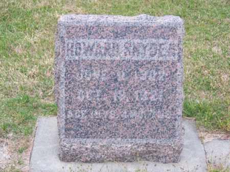 SNYDER, HOWARD - Brown County, Nebraska | HOWARD SNYDER - Nebraska Gravestone Photos