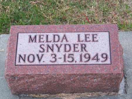 SNYDER, MELDA LEE - Brown County, Nebraska | MELDA LEE SNYDER - Nebraska Gravestone Photos