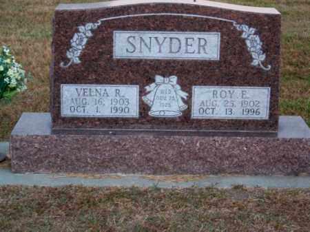 SNYDER, ROY E. - Brown County, Nebraska | ROY E. SNYDER - Nebraska Gravestone Photos