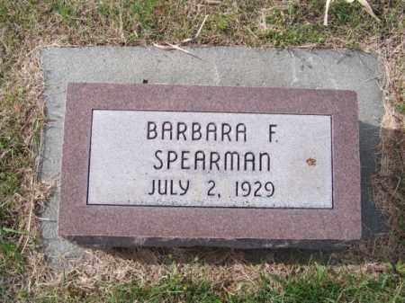 SPEARMAN, BARBARA F. - Brown County, Nebraska | BARBARA F. SPEARMAN - Nebraska Gravestone Photos