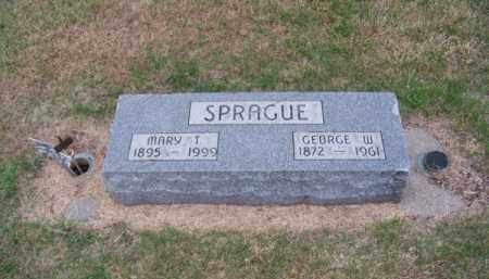 SPRAGUE, GEORGE W. - Brown County, Nebraska | GEORGE W. SPRAGUE - Nebraska Gravestone Photos