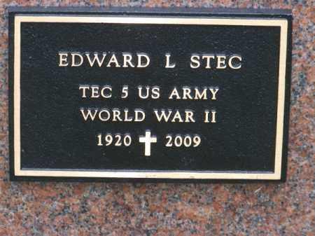 STEC, EDWARD L. - Brown County, Nebraska   EDWARD L. STEC - Nebraska Gravestone Photos
