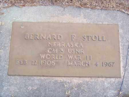 STOLL, BERNARD F. - Brown County, Nebraska | BERNARD F. STOLL - Nebraska Gravestone Photos
