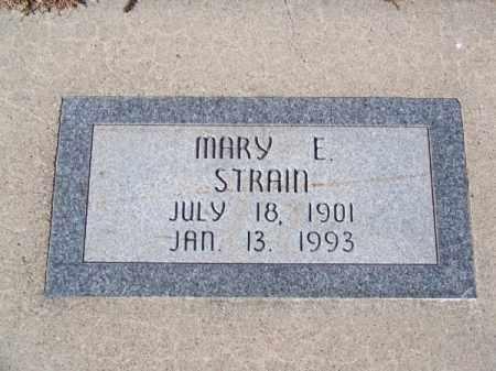 STRAIN, MARY E. - Brown County, Nebraska | MARY E. STRAIN - Nebraska Gravestone Photos