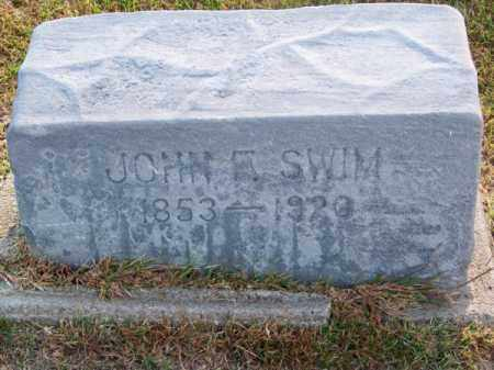 SWIM, JOHN E. - Brown County, Nebraska | JOHN E. SWIM - Nebraska Gravestone Photos