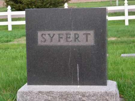 SYFERT, FAMILY - Brown County, Nebraska | FAMILY SYFERT - Nebraska Gravestone Photos