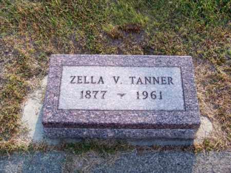 TANNER, ZELLA V. - Brown County, Nebraska   ZELLA V. TANNER - Nebraska Gravestone Photos