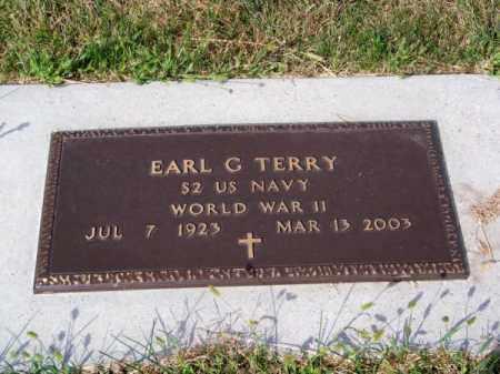 TERRY, EARL G. - Brown County, Nebraska   EARL G. TERRY - Nebraska Gravestone Photos