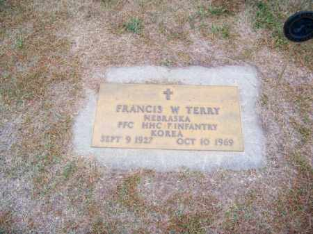 TERRY, FRANCIS W. - Brown County, Nebraska | FRANCIS W. TERRY - Nebraska Gravestone Photos