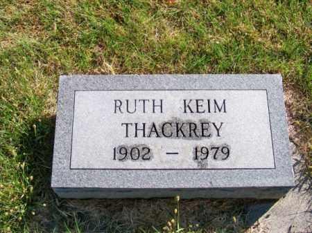 KEIM THACKREY, RUTH - Brown County, Nebraska | RUTH KEIM THACKREY - Nebraska Gravestone Photos