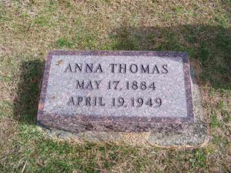 THOMAS, ANNA - Brown County, Nebraska   ANNA THOMAS - Nebraska Gravestone Photos