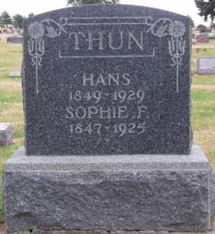 THUN, SOPHIE F. - Brown County, Nebraska | SOPHIE F. THUN - Nebraska Gravestone Photos