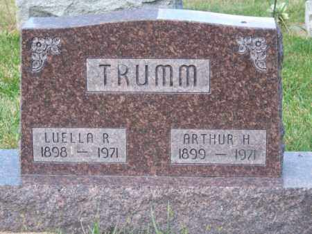 TRUMM, LUELLA R. - Brown County, Nebraska | LUELLA R. TRUMM - Nebraska Gravestone Photos