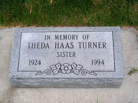 HAAS TURNER, THEDA - Brown County, Nebraska | THEDA HAAS TURNER - Nebraska Gravestone Photos