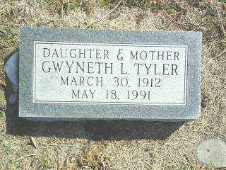 TYLER, GWYNETH - Brown County, Nebraska   GWYNETH TYLER - Nebraska Gravestone Photos