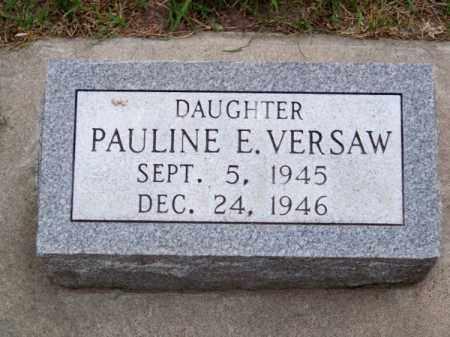 VERSAW, PAULINE E. - Brown County, Nebraska   PAULINE E. VERSAW - Nebraska Gravestone Photos