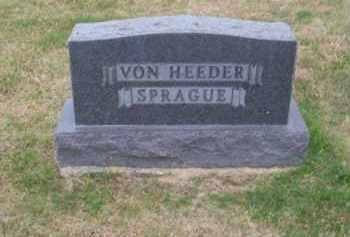 VON HEEDER-SPRAGUE, FAMILY - Brown County, Nebraska | FAMILY VON HEEDER-SPRAGUE - Nebraska Gravestone Photos