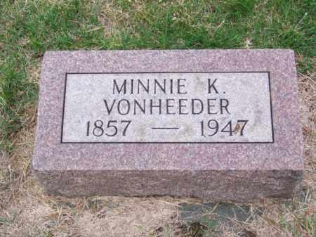 VON HEEDER, MINNIE K. - Brown County, Nebraska | MINNIE K. VON HEEDER - Nebraska Gravestone Photos