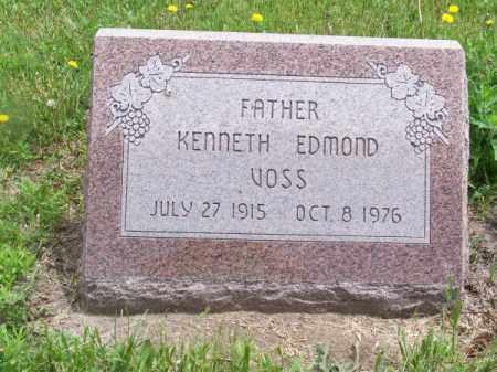 VOSS, KENNETH EDMOND - Brown County, Nebraska | KENNETH EDMOND VOSS - Nebraska Gravestone Photos