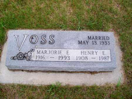 VOSS, MARJORIE E. - Brown County, Nebraska | MARJORIE E. VOSS - Nebraska Gravestone Photos