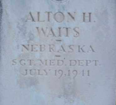 WAITS, ALTON H. - Brown County, Nebraska | ALTON H. WAITS - Nebraska Gravestone Photos