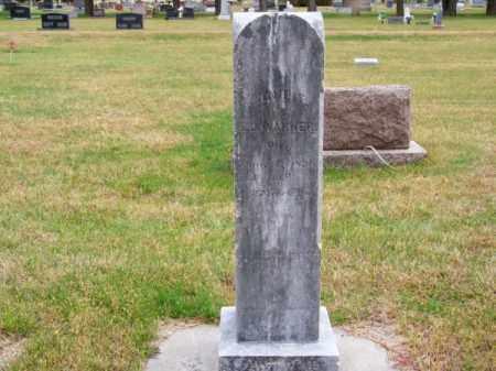 WARNER, ANNIE - Brown County, Nebraska   ANNIE WARNER - Nebraska Gravestone Photos