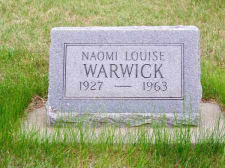 WARWICK, NAOMI LOUISE - Brown County, Nebraska   NAOMI LOUISE WARWICK - Nebraska Gravestone Photos