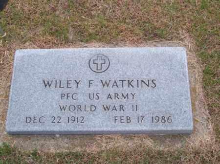 WATKINS, WILEY F. - Brown County, Nebraska | WILEY F. WATKINS - Nebraska Gravestone Photos