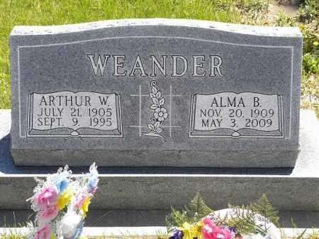 WEANDER, ALMA B. - Brown County, Nebraska | ALMA B. WEANDER - Nebraska Gravestone Photos