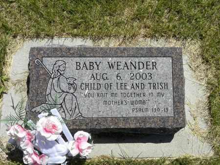 WEANDER, BABY - Brown County, Nebraska | BABY WEANDER - Nebraska Gravestone Photos