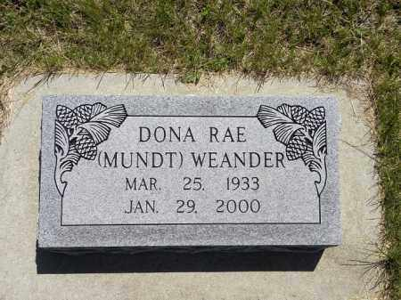 WEANDER, DONA RAE - Brown County, Nebraska   DONA RAE WEANDER - Nebraska Gravestone Photos