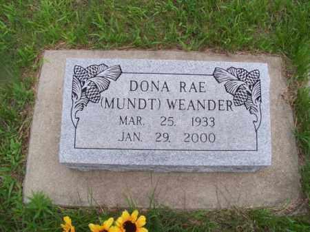 MUNDT WEANDER, DONA RAE - Brown County, Nebraska | DONA RAE MUNDT WEANDER - Nebraska Gravestone Photos