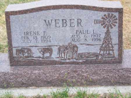 WEBER, PAUL L. - Brown County, Nebraska | PAUL L. WEBER - Nebraska Gravestone Photos