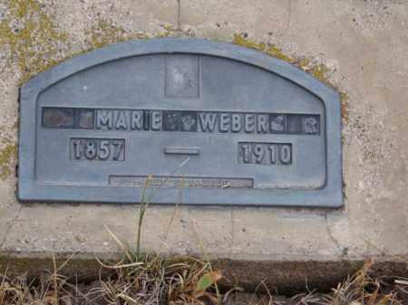 WEBER, MARIE - Brown County, Nebraska | MARIE WEBER - Nebraska Gravestone Photos