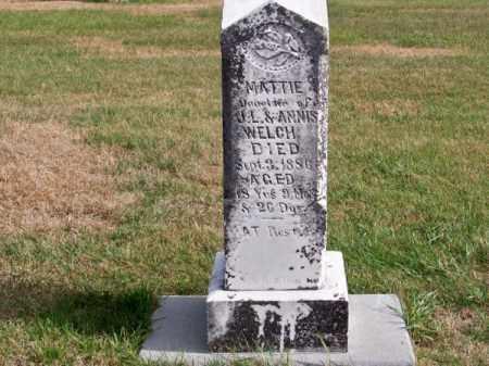 WELCH, MATTIE - Brown County, Nebraska | MATTIE WELCH - Nebraska Gravestone Photos