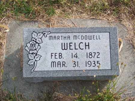WELCH, MARTHA - Brown County, Nebraska | MARTHA WELCH - Nebraska Gravestone Photos