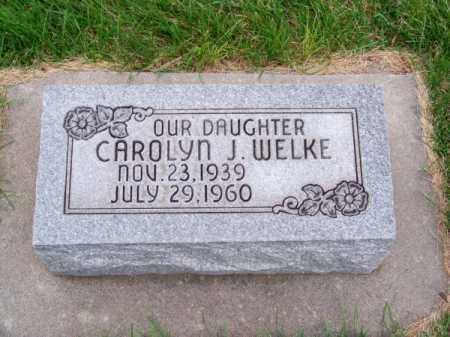 WELKE, CAROLYN J. - Brown County, Nebraska | CAROLYN J. WELKE - Nebraska Gravestone Photos