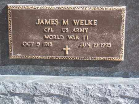 WELKE, JAMES M. - Brown County, Nebraska   JAMES M. WELKE - Nebraska Gravestone Photos